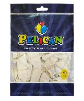 Купить Шарики Pelican 10' (26 см), пастель белый2 1050-844, 50шт/уп