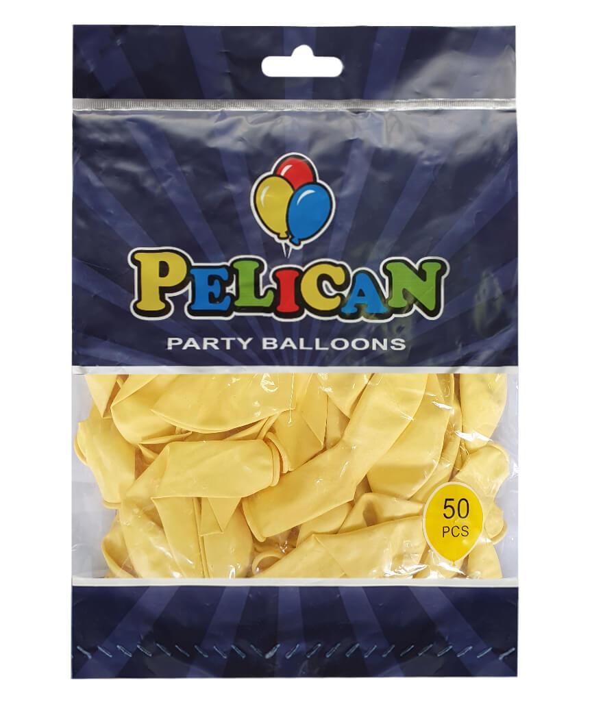 Шарики Pelican 10' (26 см), макарун желтый 1050-901, 50шт/уп