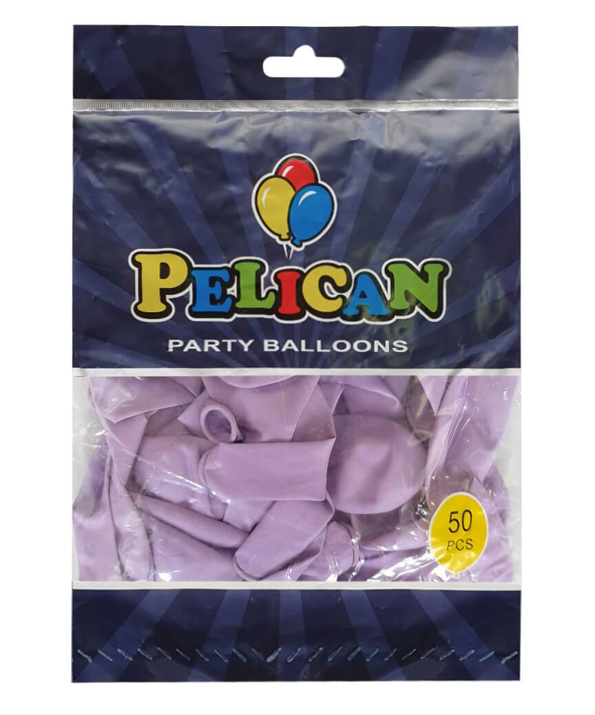 Шарики Pelican 10' (26 см), макарун фиолетовый 1050-903, 50 шт/уп