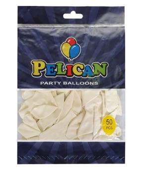 Купить Шарики Pelican 10' (26 см), макарун белый 1050-907, 50 шт/уп