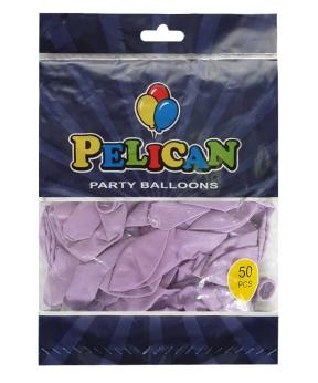 Купить Шарики Pelican 10' (26 см), макарун фиолетовый светлый 1050-913, 50 шт/уп