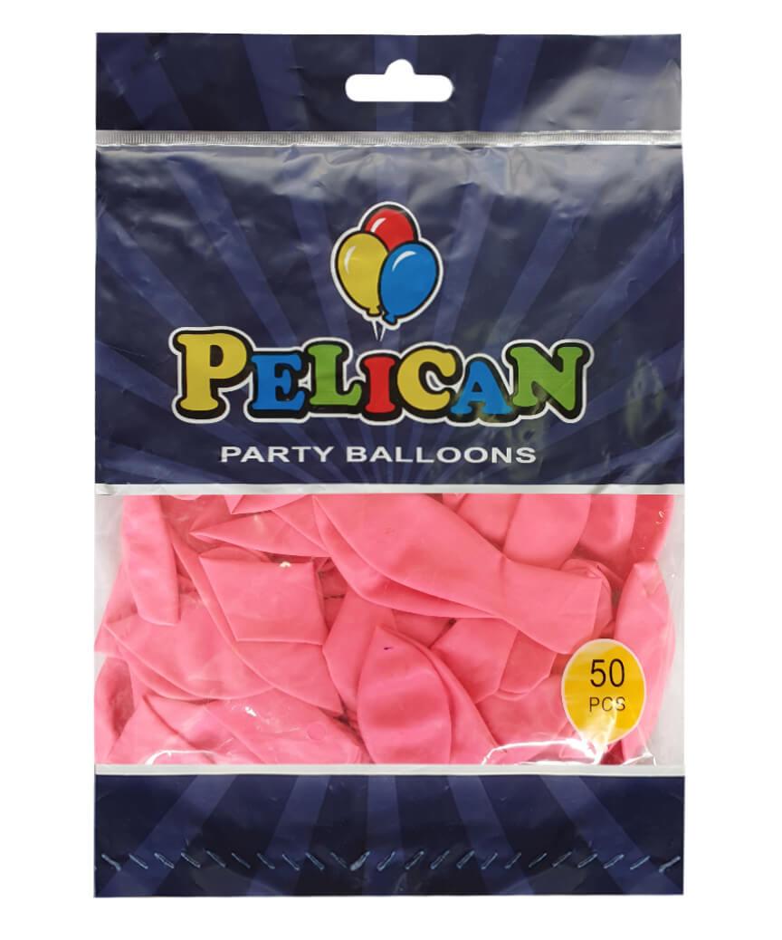 Шарики Pelican 10' (26 см), макарун розовый темный 1050-914, 50 шт/уп