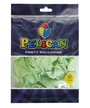 Купить Шарики Pelican 10' (26 см), макарун зелёный2 1050-931, 50шт/уп