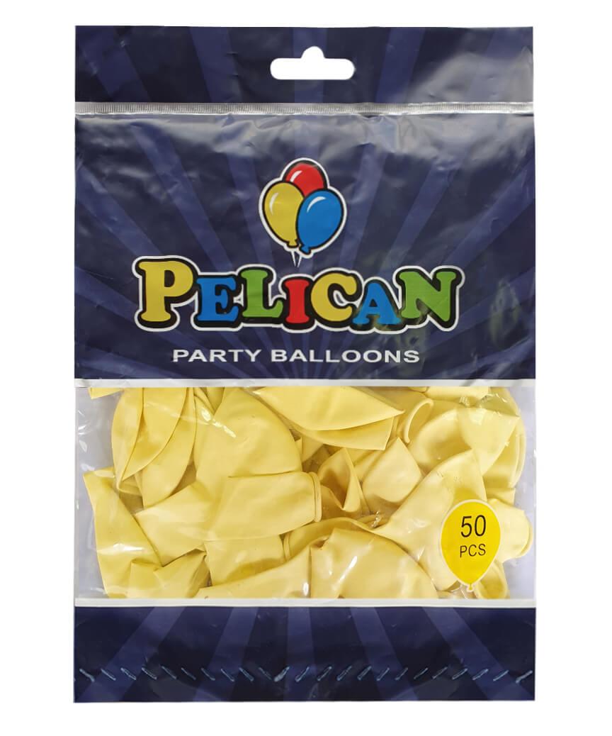 Шарики Pelican 10' (26 см), макарун жёлтый2 1050-933, 50шт/уп