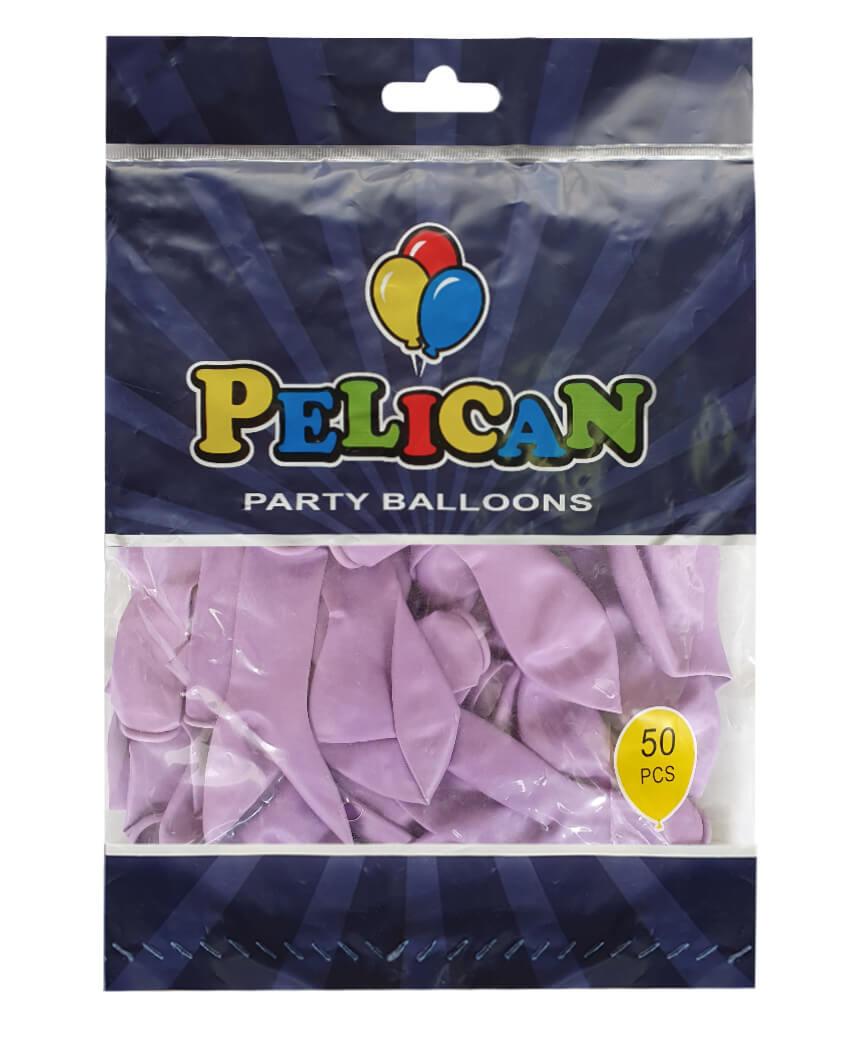 Шарики Pelican 10' (26 см), макарун фиолетовый2 1050-937, 50шт/уп
