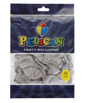 Купить Шарики Pelican 10' (26 см), макарун серый2 1050-939, 50шт/уп