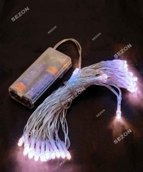 Купить НА БАТАРЕЙКАХ 30 LED, 3м білий