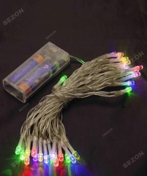 Купить НА БАТАРЕЙКАХ 80 LED, 8м, мульті