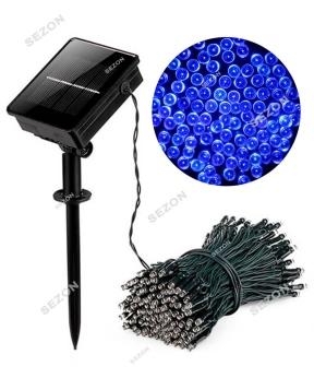 Купить Гірлянда 100 LED на сонячній батареї,  синій