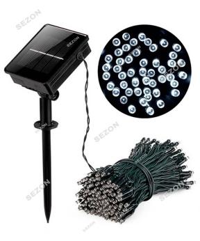 Купить Гірлянда 100 LED на сонячній батареї,  білий
