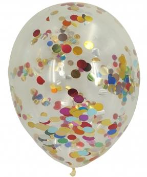 Купить Шарики 12' (30 см) конфетти - цветное 1205-101, 5шт/уп