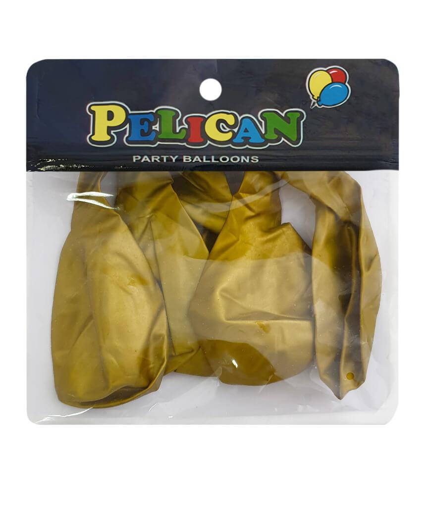 Шарики Pelican 12' (30 см), хром золото 1205-601, 5шт/уп