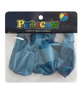 Купить Шарики Pelican 12' (30 см), хром синий, 5шт/уп