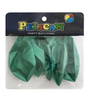 Купить Шарики Pelican 12' (30 см), хром зеленый, 5шт/уп