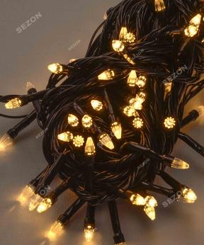 Купить КОНУС 500 LED,  теплий білий  (чорний провід)