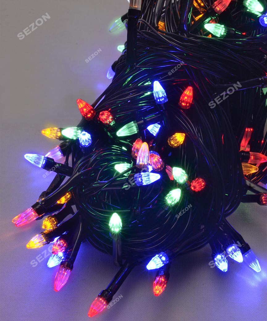 КОНУС 300 LED,  мульті        (чорний провід)
