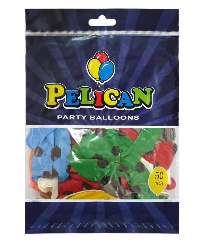 Шарики Pelican 12' (30 см), цвета микс - мяч 1250-505, 50шт/уп