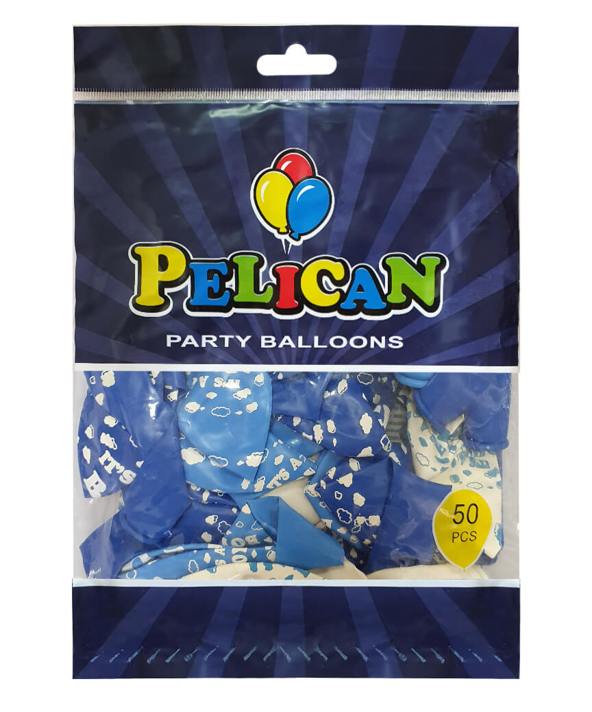 Шарики Pelican 12' (30 см), голубой - It's boy 1250-509, 50шт/уп