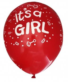 Купить Шарики Pelican 12' (30 см), розовый - It's girl 1250-510, 50шт/уп