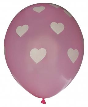 Купить Шарики Pelican 12' (30 см), розовый - сердечка 1250-520, 50шт/уп