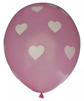 Купить Шарики Pelican 12' (30 см), розовый - сердечка 1205-520, 5шт/уп
