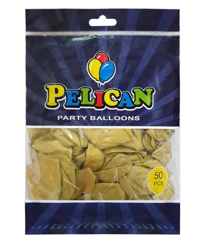 Шарики Pelican 12' (30 см), хром золото 1250-601, 50шт/уп