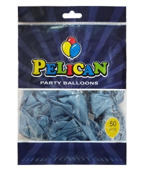 Купить Шарики Pelican 12' (30 см), хром синий, 50шт/уп
