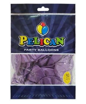 Купить Шарики Pelican 12' (30 см), хром фиолетовый, 50шт/уп