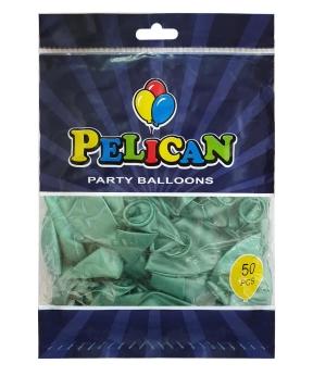Купить Шарики Pelican 12' (30 см), хром зеленый, 50шт/уп