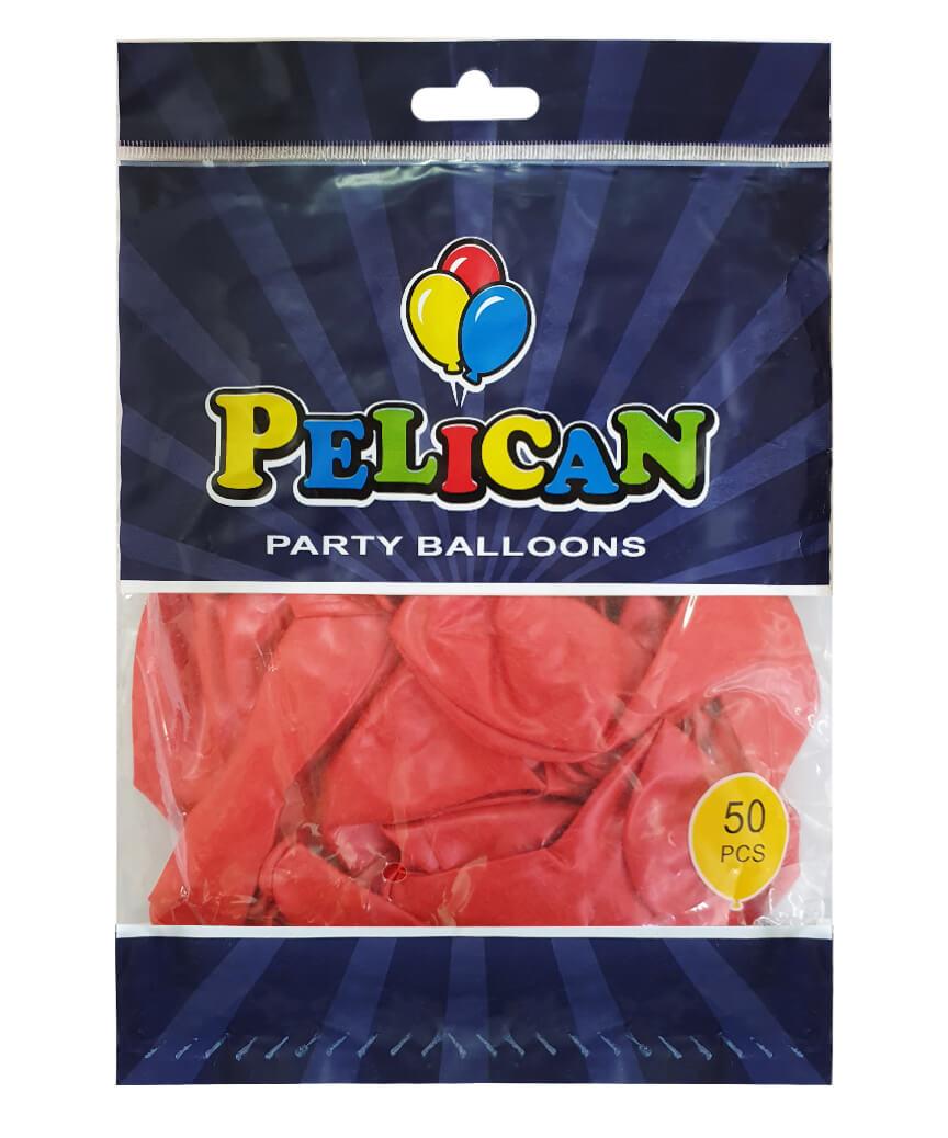 Шарики Pelican 12' (30 см), перламутр красный 1250-731, 50шт/уп