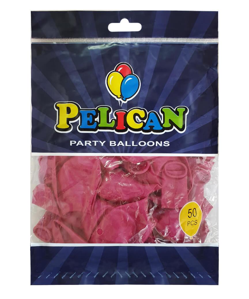 Шарики Pelican 12' (30 см), перламутр малиновый темный 1250-733, 50шт/уп