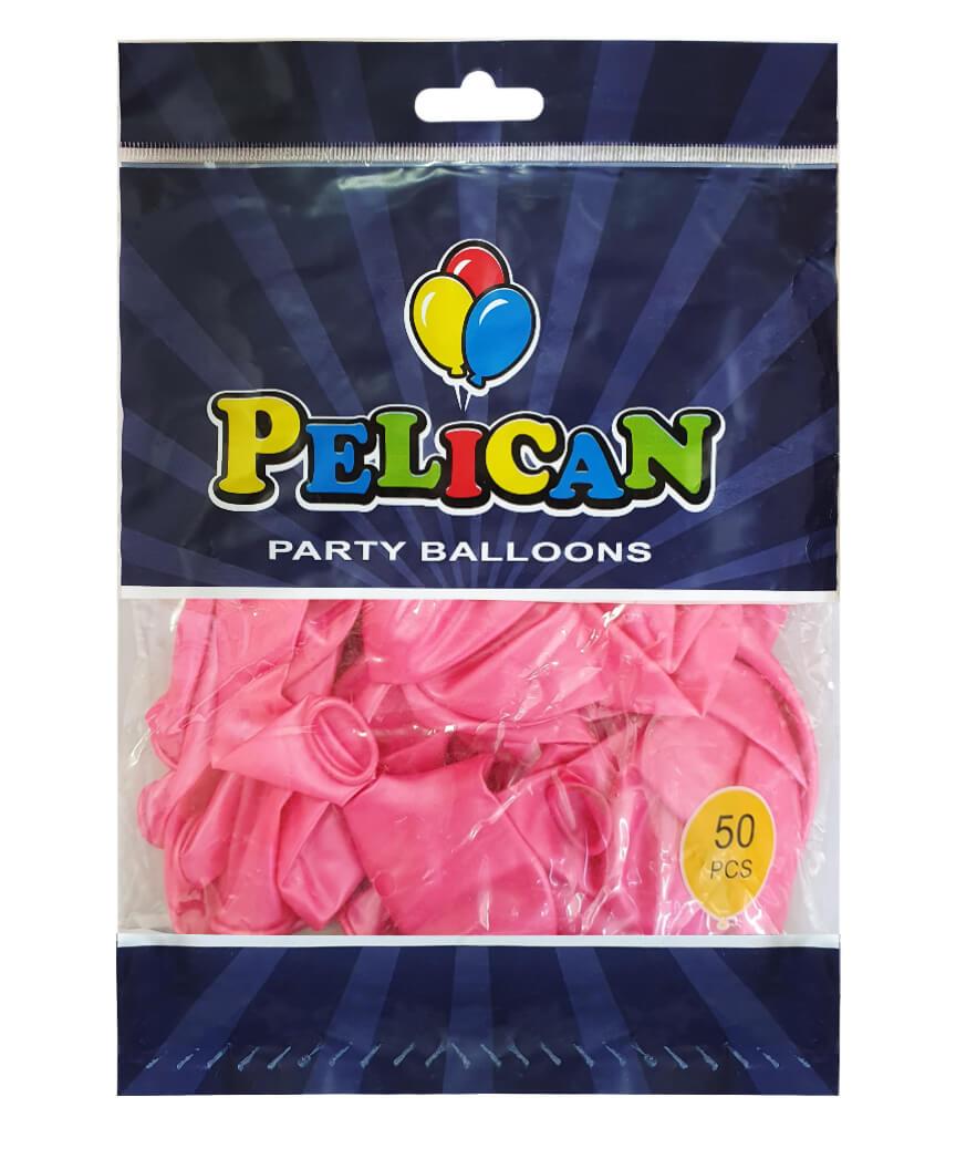 Шарики Pelican 12' (30 см), перламутр розовый 1250-735, 50шт/уп