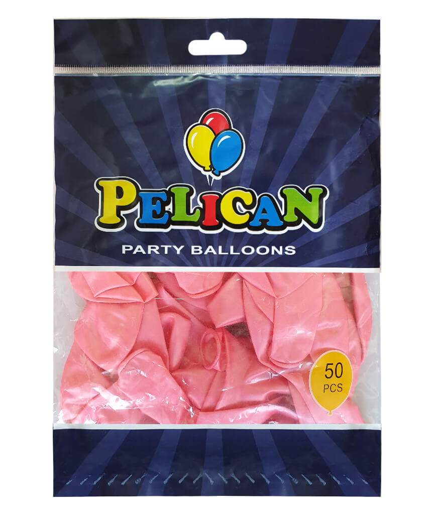 Шарики Pelican 12' (30 см), перламутр розовый светлый 1250-736, 50шт/уп