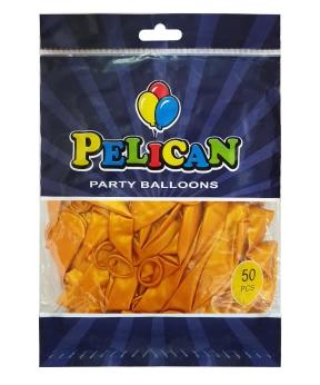 Купить Шарики Pelican 12' (30 см), перламутр золото 1250-737, 50шт/уп