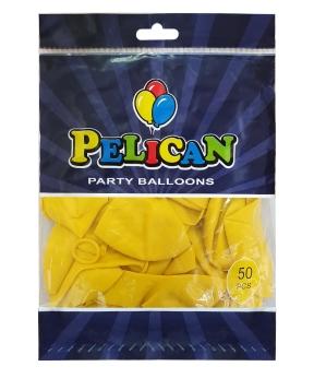 Купить Шарики Pelican 12' (30 см), перламутр желтый 1250-741, 50шт/уп