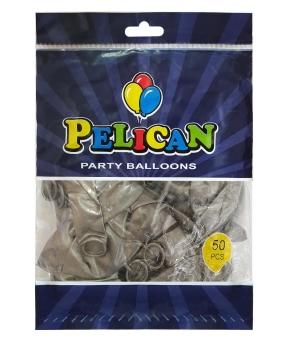 Купить Шарики Pelican 12' (30 см), перламутр серебро 1250-744, 50шт/уп