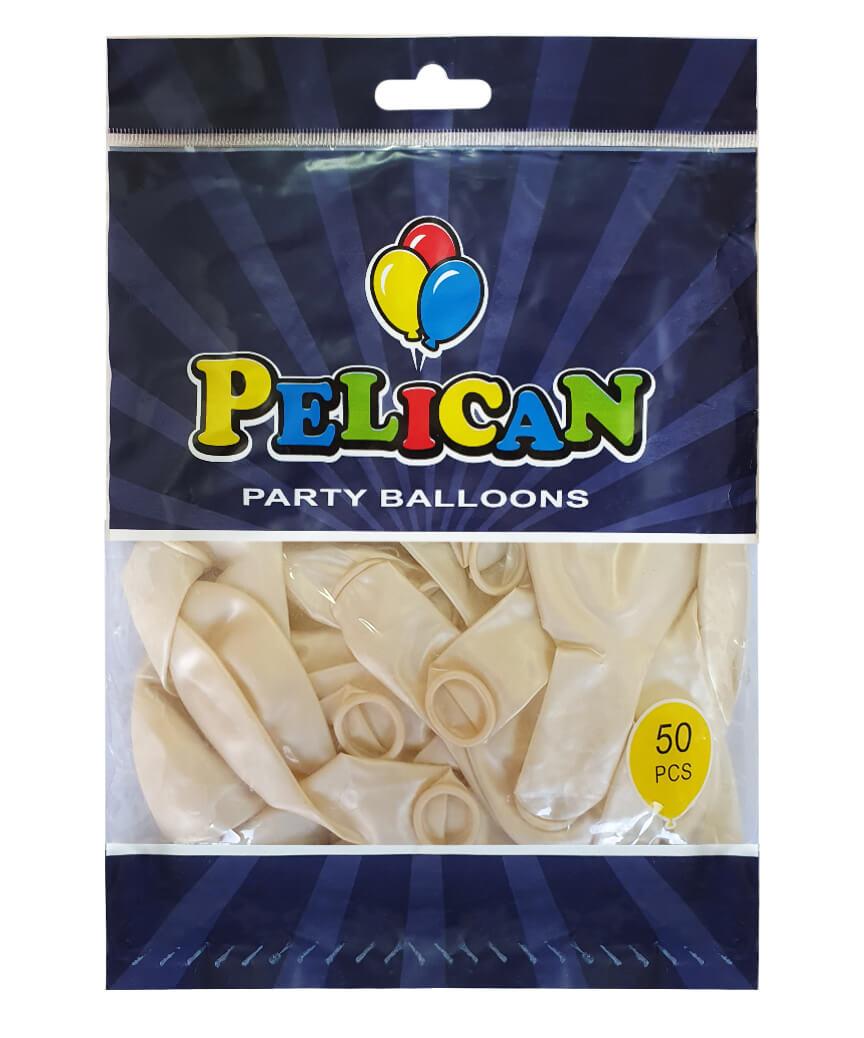 Шарики Pelican 12' (30 см), перламутр белый 1250-745, 50шт/уп