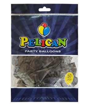 Купить Шарики Pelican 12' (30 см), перламутр черный 1250-746, 50шт/уп