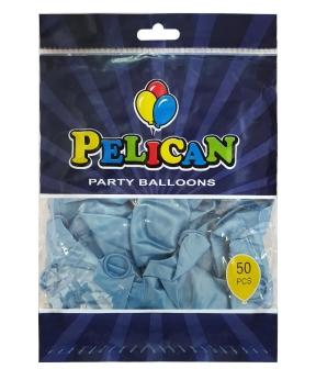 Купить Шарики Pelican 12' (30 см), перламутр голубой 1250-748, 50шт/уп