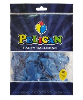 Купить Шарики Pelican 12' (30 см), перламутр синий 1250-749, 50шт/уп