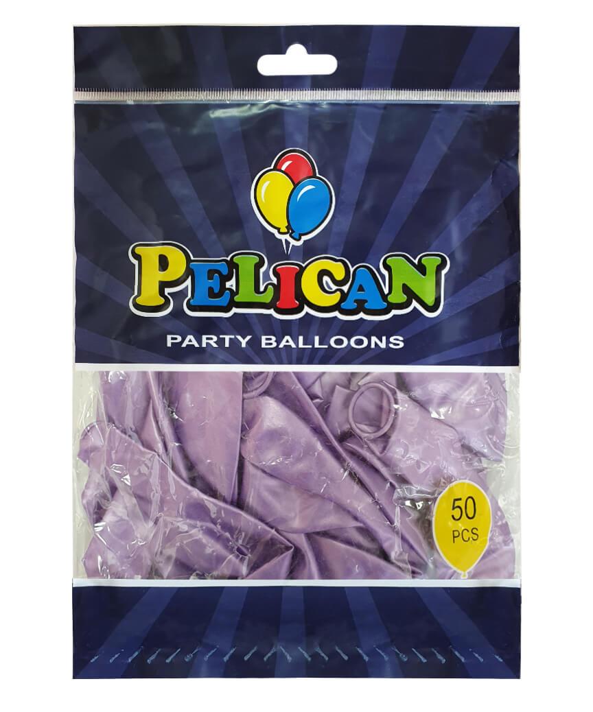 Шарики Pelican 12' (30 см), перламутр фиолетовый 1250-750, 50шт/уп