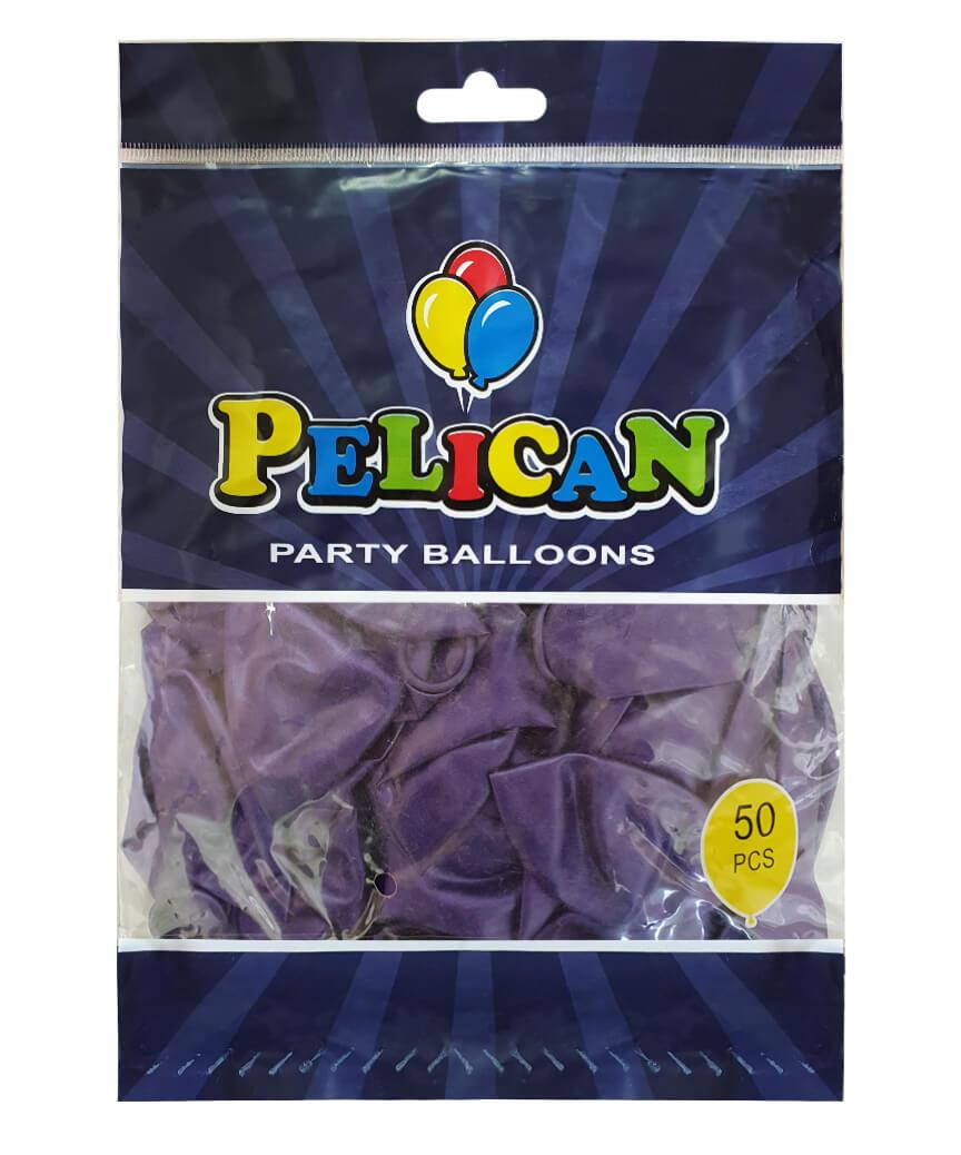 Шарики Pelican 12' (30 см), перламутр синий темный 1250-751, 50шт/уп