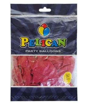 Купить Шарики Pelican 12' (30 см), пастель бордовый 1250-831, 50шт/уп