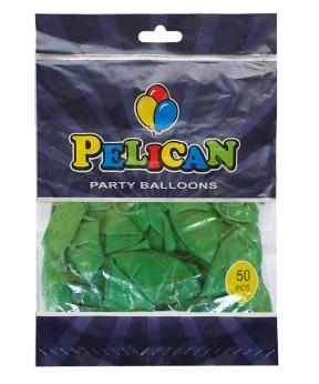 Купить Шарики Pelican 12' (30 см), пастель зеленый 1250-832, 50шт/уп