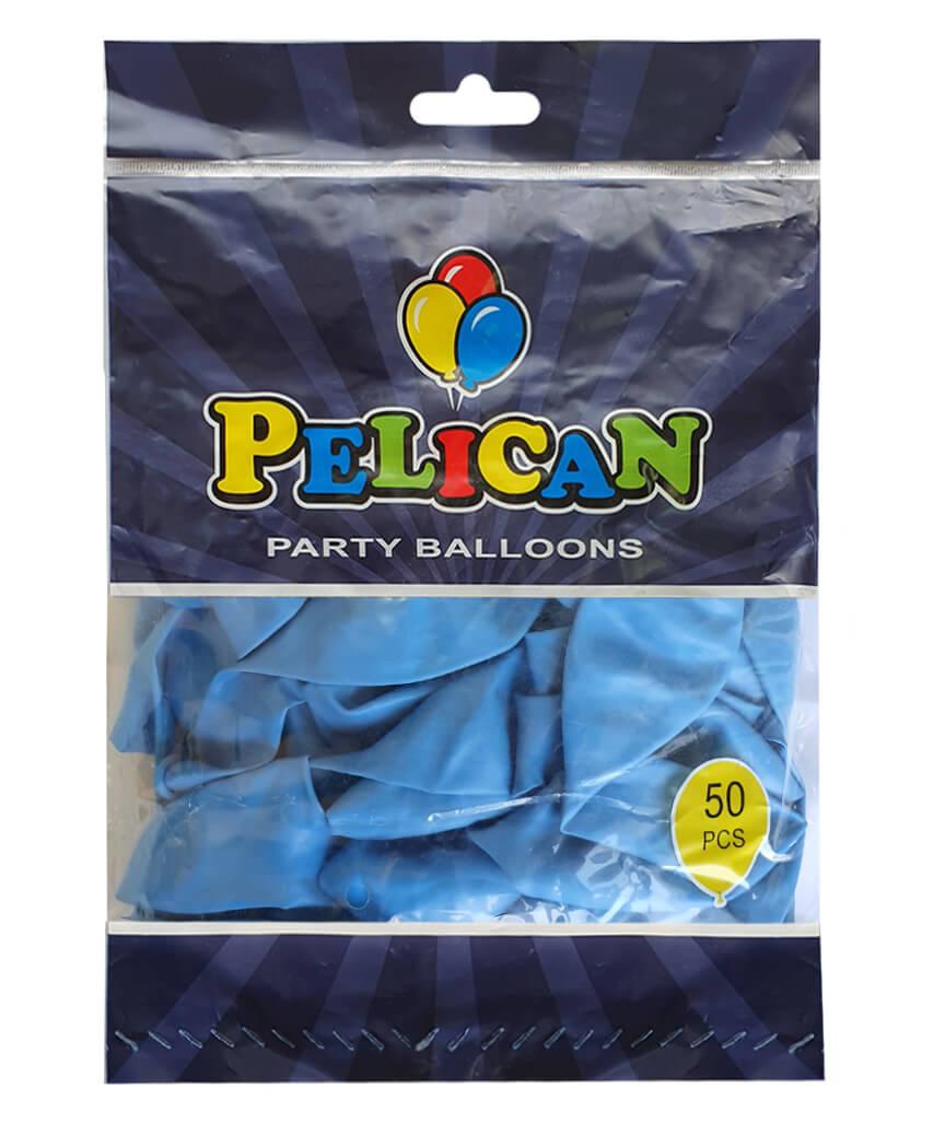 Шарики Pelican 12' (30 см), пастель синий светлый 1250-834, 50шт/уп