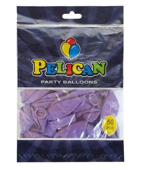 Купить Шарики Pelican 12' (30 см), пастель фиолетовый 1250-835, 50шт/уп