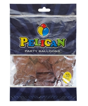 Купить Шарики Pelican 12' (30 см), пастель коричневый 1250-836, 50шт/уп