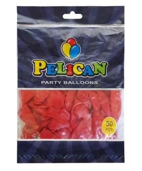 Купить Шарики Pelican 12' (30 см), пастель красный 1250-837, 50шт/уп