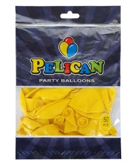 Купить Шарики Pelican 12' (30 см), пастель желтый 1250-841, 50шт/уп