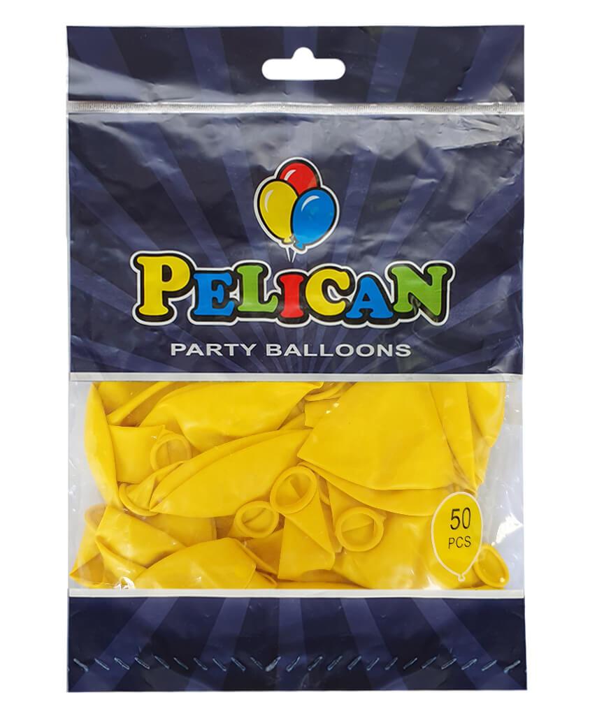 Шарики Pelican 12' (30 см), пастель желтый 1250-841, 50шт/уп